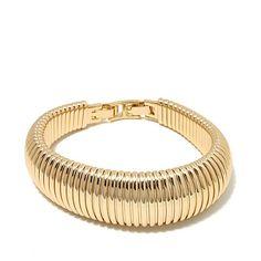"""Roberto by RFM Goldtone Bold 6-1/2"""" Omega Bracelet"""