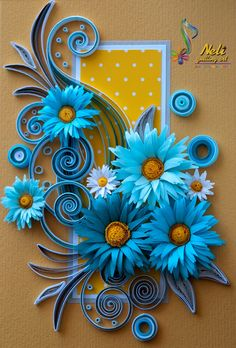 Neli Quilling, Paper Quilling Cards, Quilling Work, Paper Quilling Patterns, Quilled Paper Art, Quilling Paper Craft, Paper Flowers Craft, Paper Roll Crafts, Paper Crafts Origami