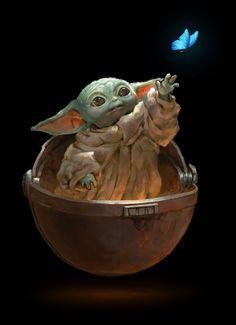 Jedi Jolts - Baby Star Wars - Ideas of Baby Star Wars - Baby Yoda by Sanjin Halimic Source by luizernandes Star Wars Fan Art, Star Trek, Star Wars Baby, Tattoo Geek, Yoda Images, Images Star Wars, Cuadros Star Wars, Wallpaper Animes, Yoda Meme