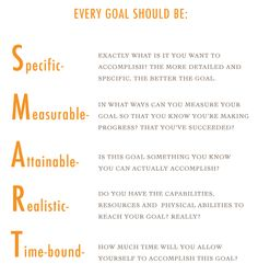 S.M.A.R.T. goal setting only makes sense!