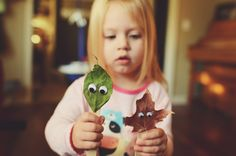 leaf craft - collect leaves ourdoors
