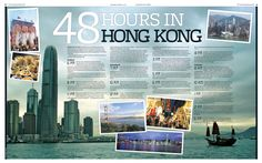 #papercraft #Scrapbook #layout.  travel layout by panithmr: 48 hours in Hong Kong