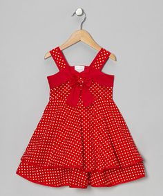 Take a look at this Red Polka Dot Dress - Infant, Toddler & Girls by Chit-Chat on #zulily today!