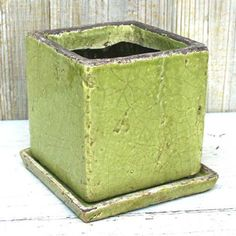 Shabby Cube Green