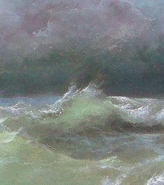 270 Restless Ocean 8 x 16 original giclee от vladimirmesheryakov