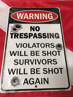 WARNING NO TRESPASSING METAL SIGN FACTORY ANTIQUED RIVERS EDGE,