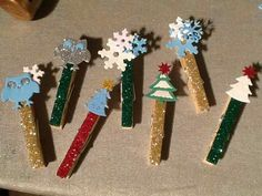 Card line pins. For Holiday card line.