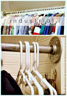 Metal Closet Rods Enchanting Making Hanging Racks Wo Closetsbrillant  How To Design Ideas