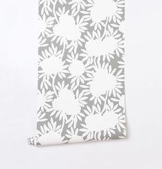 Silhouette Grey Wallpaper available on Caitlin Wilson's website! www.caitlinwilsontextiles.com