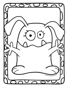 Color this bunny monster and 12 other monster friends in this set of 13 Monster Coloring Pages.