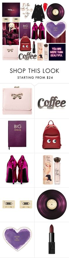 """""""K"""" by numbsunday ❤ liked on Polyvore featuring Rustic Arrow, Sloane Stationery, Anya Hindmarch, Yves Saint Laurent, Benefit, Kate Spade, GALA and NARS Cosmetics"""