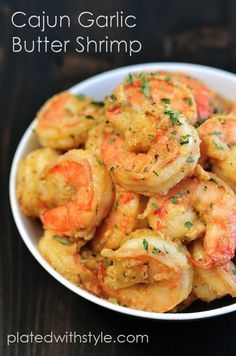 Cajun Garlic Butter Shrimp - Plated with Style