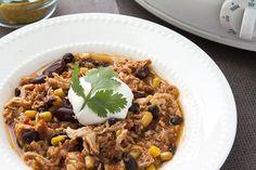Recipe:+Skinny+Taco+Chicken+Chili