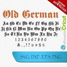 Hand Lettering Fonts, Monogram Fonts, Monogram Letters, German Font, Gothic Fonts, Image Font, Cricut, Black Silhouette, Tattoo Fonts