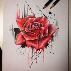 Purple Tattoos, Rose Tattoos, Flower Tattoos, Black Tattoos, Body Art Tattoos, Print Tattoos, Sleeve Tattoos, Rose Drawing Tattoo, Tattoo Drawings