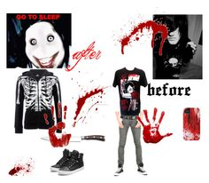 """""""jeff the killer"""" by shadow-dxlvi ❤ liked on Polyvore featuring Vans, Iron Fist, Supra and Wüsthof"""
