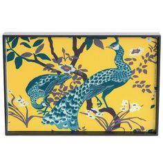 Peacock Tray, In Yellow, So Beautiful, Sharing Hollywood Luxury Lifestyle Home Decor & Gift Ideas Courtesy Of InStyle-Decor.com Beverly Hills Enjoy & Happy Pinning