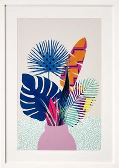 Botanical Illustration, Framed Print from Made.com. Multi-Coloured. Express delivery. Botanicals are back. These beautiful prints bring a little wil..