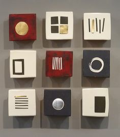 Nine Squares: Lori Katz: Ceramic Wall Art - Artful Home