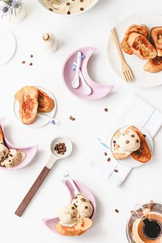 vanilla french toast with coffee ice cream | paper & stitch