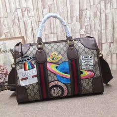bdb623b29d8 Gucci Courrier Soft GG Supreme Duffle Bag Luggage Sale