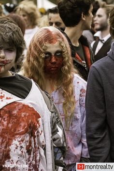 Marche des Zombies – photos effrayantes