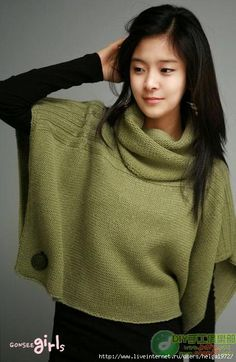 not sure what to call it but love it - button jumper poncho thing