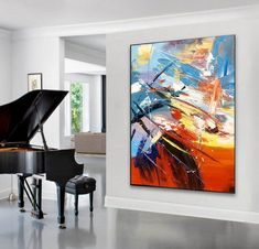 Large Canvas Art, Abstract Canvas Art, Oil Painting Abstract, Canvas Wall Art, World Map Painting, Hand Painting Art, Painting Process, Oversized Wall Art, Extra Large Wall Art