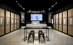 Cecconi Simone B.streets blacklines and model Sales Center, Leasing Office, Sales Office, Media Wall, Exhibition Space, Showroom, Wall Lights, Display, Interior Design