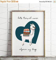 (ad) 50% OFF SALE alpaca print, llama print, alpaca my bags decor, alpaca printable, alpaca wall decor, digital download