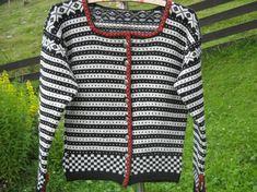 Fana jakke str 38/40 kort modell. Knit Crochet, Knitting, Pattern, Sweaters, Clothes, Fashion, Stitches, Tricot, Scale Model