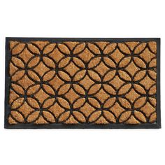Circles Rubber and Coir Doormat (2' x 3')
