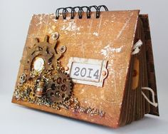My creativity: Скрап-календарь с фотографиями в подарок дедушке
