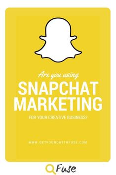 How to use Snapchat for business . Check out my tips on how you can use snapchat to market your creative business. Read now or save for later. http://getfoundwithfuse.com/use-snapchat-business/