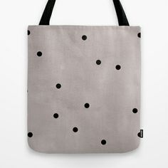 Black dots Tote Bag @Sherry Spain