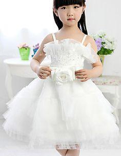 1152b343ca3693   49.99  Ball Gown Tea-length Flower Girl Dress - Cotton Sleeveless