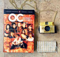 The O.C. DVD box first season and gold baby diana - Box de DVD do The O.C. primeira temporada e a Diana baby dourada