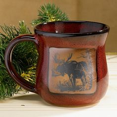 Etonnant Moose Mug...beautiful Pottery Made In The USA!