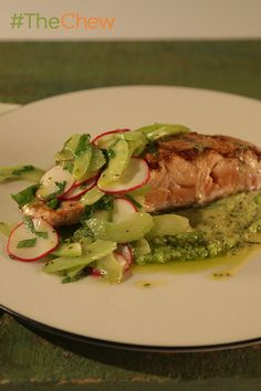 A deliciously crisp & perfectly cooked King Salmon with Fava, Radishes, and Lemon Celery Citronette from Mario will definitely wow your family tonight!