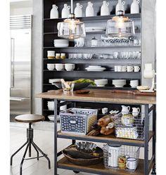 Industrial Kitchen Cart   Rejuvenation #design #furniture #interiordesign #interior #inspiration #decor