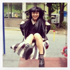 Instagram media by ayasato1006 - Before the work she just having fun in the park... Ha こちら、もうすぐ21歳です。
