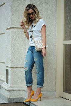 Gorgeous 41 Best Casual Outfit with Boyfriend Jeans https://stiliuse.com/41-best-casual-outfit-boyfriend-jeans