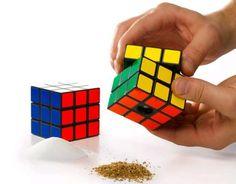 Rubik's cube salt and pepper shaker.