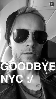 Jared Leto via snap chat