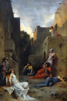 """""""Women of the Ouled Nayls"""" by Eugene Fromentin (1867)"""