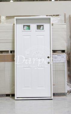 2 Lite Steel Exterior Door 6-8 | Darpet Interior Doors for Chicago Builders & Flush Steel Exterior Door 8-0 | Darpet Interior Doors for Chicago ... Pezcame.Com
