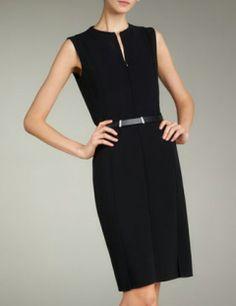 AKRIS Zip Front Double Face Dress