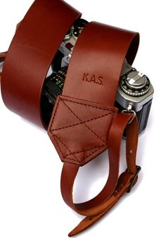 Personalised Leather Camera Strap from notonthehighstreet.com