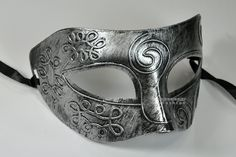 Silver Antique Greek Roman Warrior Men Venetian Mardi Gras Party Masquerade Mask - Event Party Ball Mardi Gars by Kayso >>> You can get additional details, click the image : Eye Care