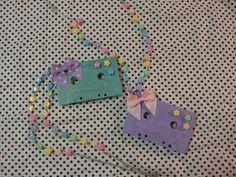 Fairy Kei Heaven: Fairy Kei Cassette Tape Necklace Tutorial